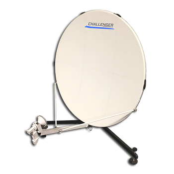 1.0 meter quick-deploy transmit receive flyaway manpack backpack satellite antenna