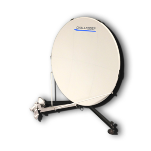 Challenger 1.0 meter quick-deploy flyaway manpack backpack satellite antenna satellite dish