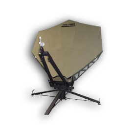 2.4 meter quick-deploy transmit receive flyaway manpack backpack satellite antenna