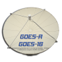 Prime Focus Satellite Dish Antennas for GOES-R by Challenger