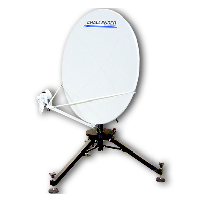 Challenger Communications 1.2 meter quick-deploy flyaway fly away satellite antenna