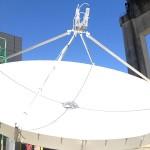 Multibeam Multifeed Challenger Prime Focus 3.8 meter antenna scte ses