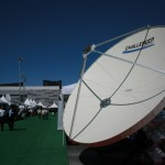 Challenger Communications Prime Focus Antenna at NAB 2015